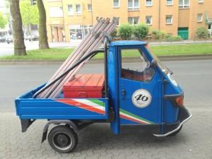 Mopedbil med flak